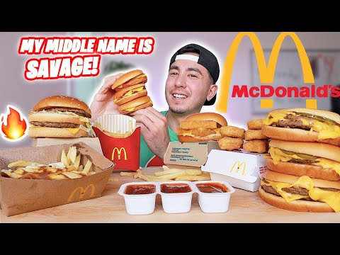HUGE MCDONALDS FEAST + BIG MAC + DOUBLE FILET O FISH | MUKBANG