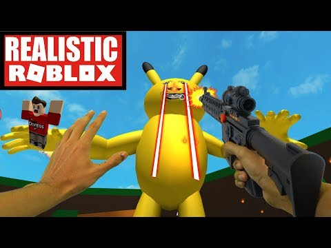 Realistic Roblox - ESCAPE A VERY HUNGRY DETECTIVE PIKACHU | ESCAPE A GIANT EVIL DETECTIVE PIKACHU!