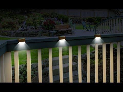 Hampton Bay Solar Deck Post Light 2 Pack Solar Lights