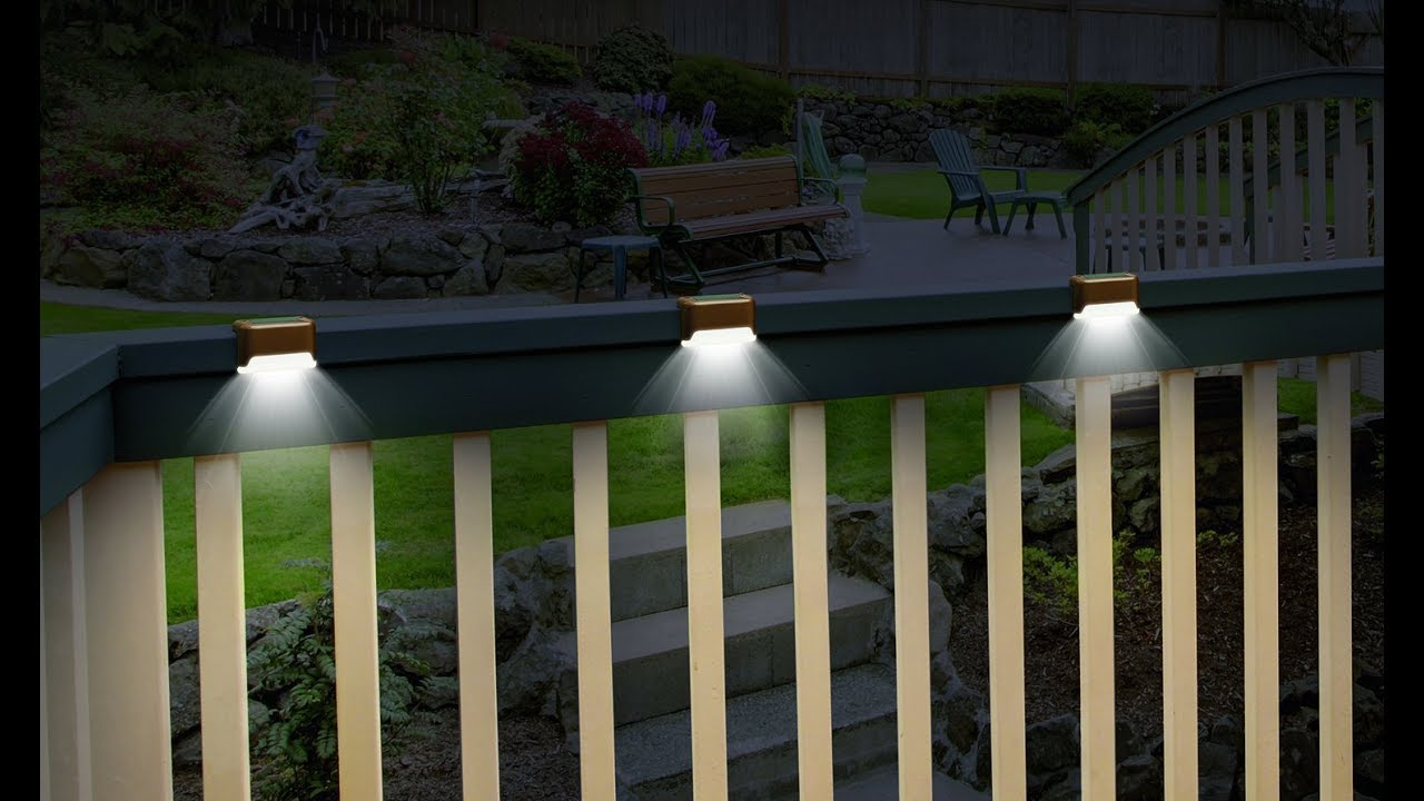 Solar Deck Lights Set Of 3