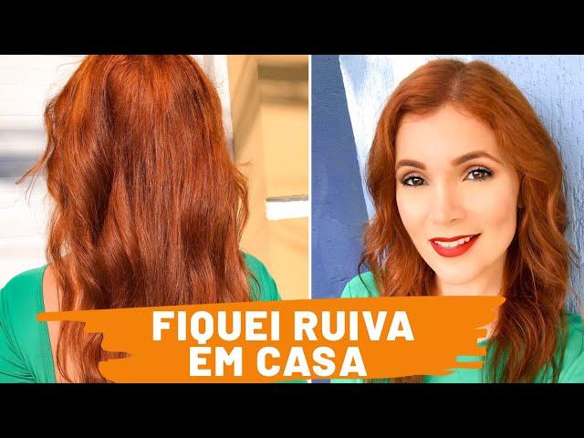 FIQUEI RUIVA EM CASA 👩🦰  SHAMPOOZADA + TINTURA COLOR PERFECT 8.4 + 7.4  - RUIVA EM 1 DIA