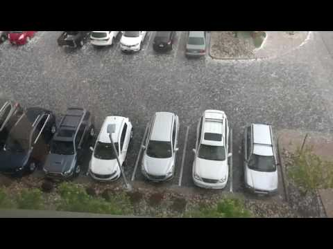 Hail trashes cars in Golden Colorado(2)