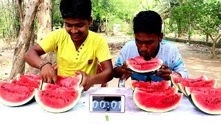 10 KG Watermelon Eating  challenge | Food Eating Competition by villfood