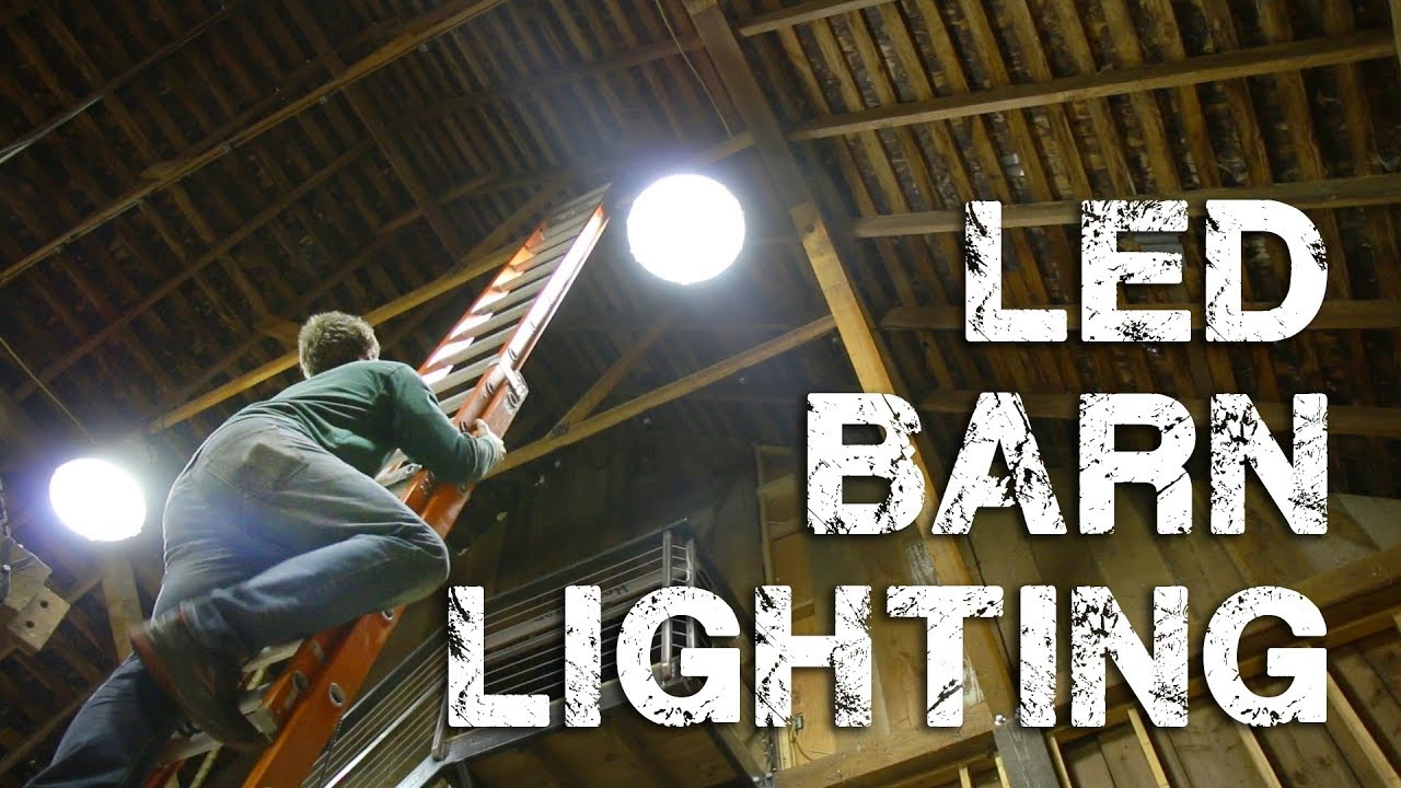 installing led shop barn lighting ufo high bay lights [ 1280 x 720 Pixel ]