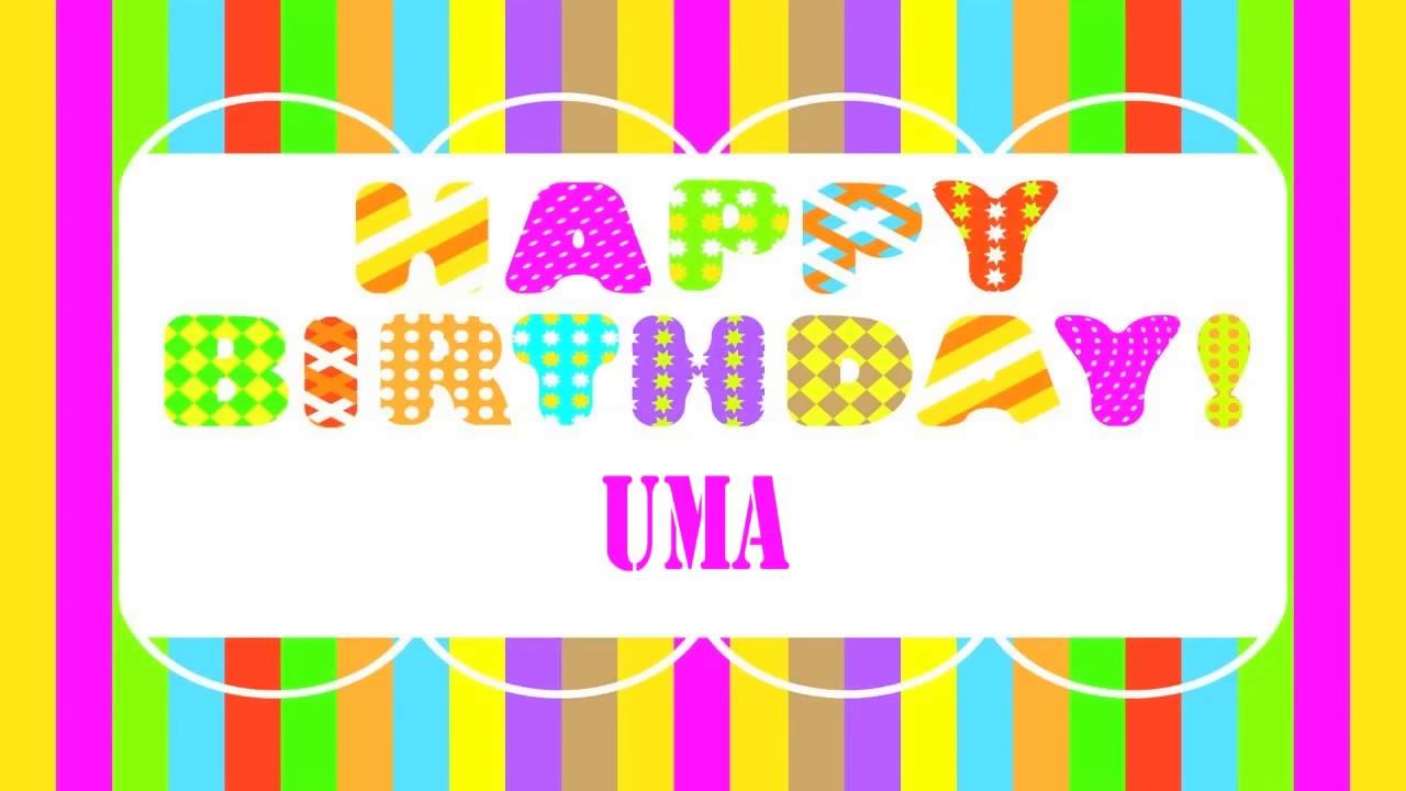 Uma Wishes Mensajes Happy Birthday