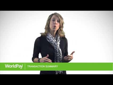 World Pay Transaction Summary Tutorial