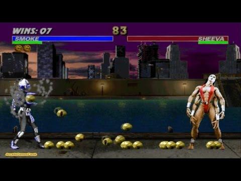 Ultimate Mortal Kombat 3 Smoke Gameplay Playthrough