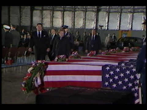 Cuts of Ceremony for US Embassy Bombing in Beirut on April 23, 1983