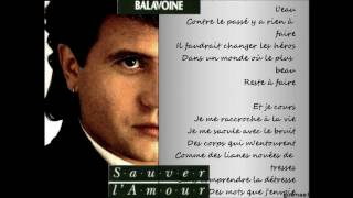 Tous les cris, les SOS - Daniel Balavoine (avec les paroles).wmv