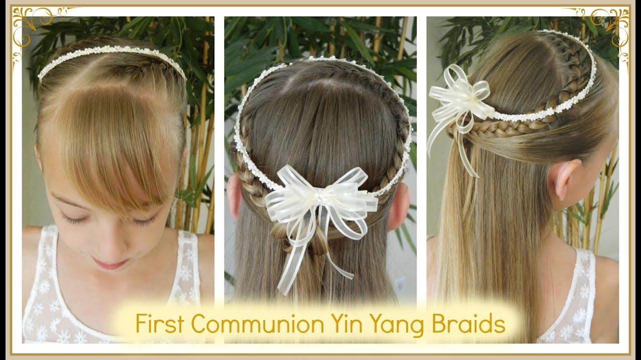 best first communion yin yang braids / 4 different accesories / bonita hair do