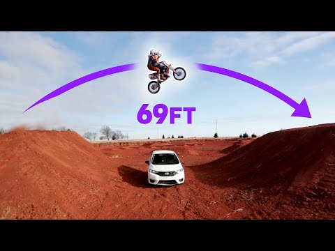Dirt Bike Jump with Two People!