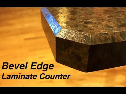 How to make a bevel edge counter top