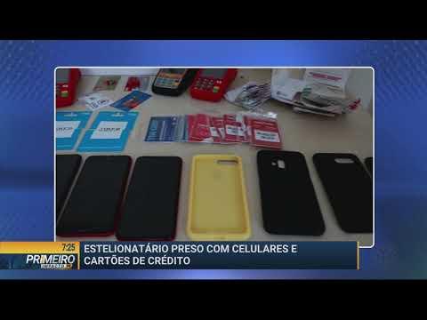 Estelionatário é preso com celulares e cartões de crédito - Primeiro Impacto PR (20/05/19)