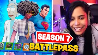 Reacting to the *NEW* Season 7 Battle Pass (Buying ALL Tiers) - Chica