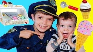 BABY STEALS ICE CREAM & PJ Masks Gekko Saves 3 Little Pigs from Big Wolf