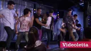 "Violetta 2 English - Guys singing ""Lights, camera and action"" Ep.65"