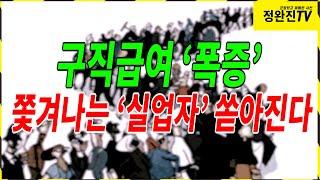 [정완진TV] 구직급여 '폭증' 쫓겨나는 '실업자' 쏟…
