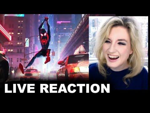Spider-Man Into The Spider-Verse Trailer REACTION