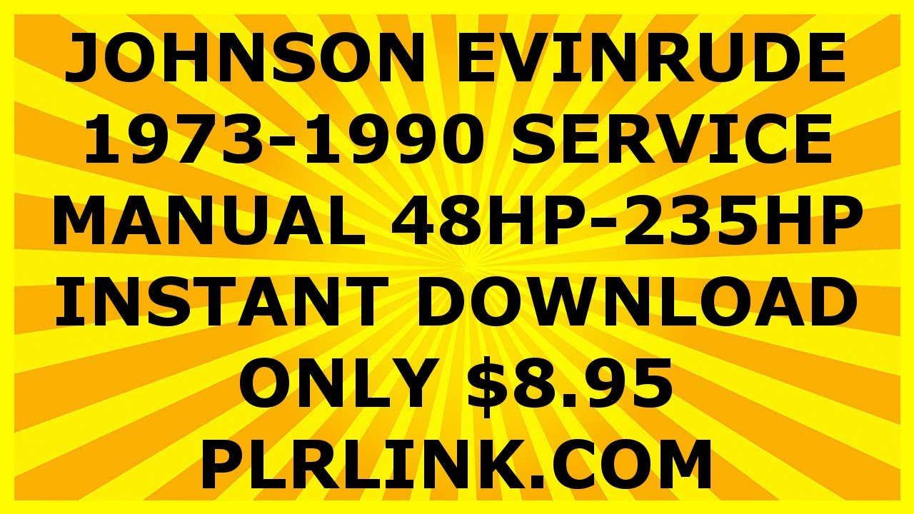 evinrude shop manual download