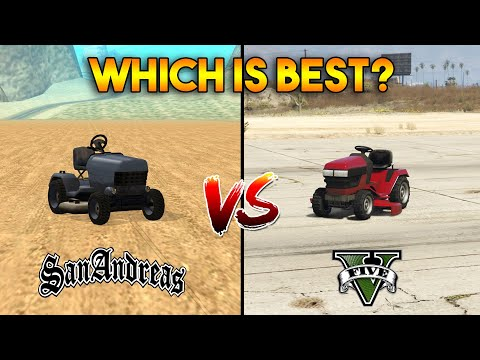 GTA 5 Lawn Mower VS GTA San Andreas Mower : Which is Best?