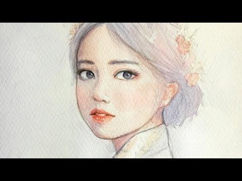 Watercolor | Girl in Hanbok 한복