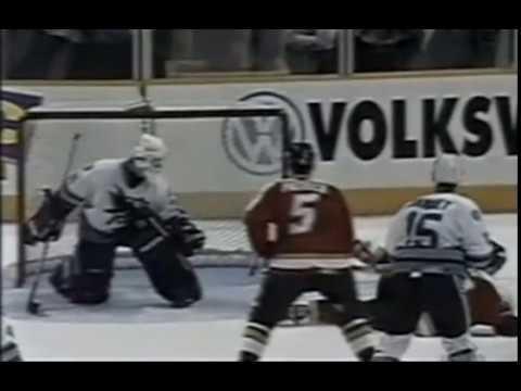 1995 Western Quartefinals Game 6   Calgary Flames @ San Jose Sharks   5 17 1995