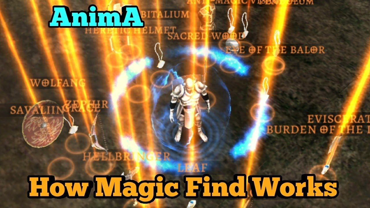 Magic Find And Farming Legendaries Anima Arpg Youtube