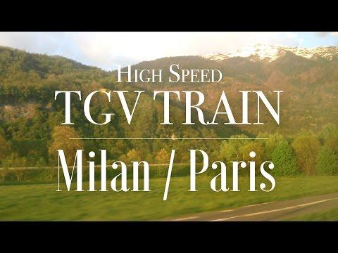High Speed TGV Train travel from Milan to Paris