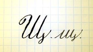 Урок русская каллиграфия буквы Щщ  Cyrillic alphabet calligraphy lesson letter Щ