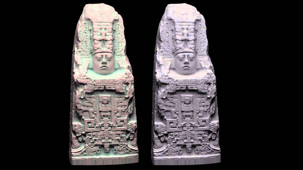 3D Stela K Quirigua, Guatemala