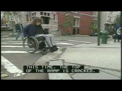 Accessible sidewalks-Americans With Disabilities Act-Wheelchair-Civil rights-