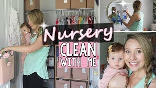CLEAN WITH ME   Nursery Edition   Cleaning Motivation 2019   Jessica Elle
