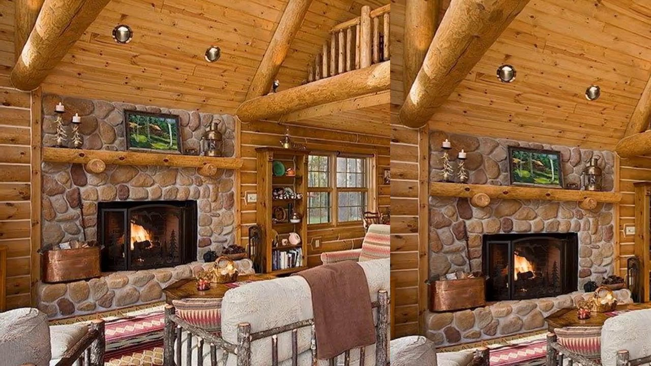 Inside Log Cabins Decorating Ideas - YouTube