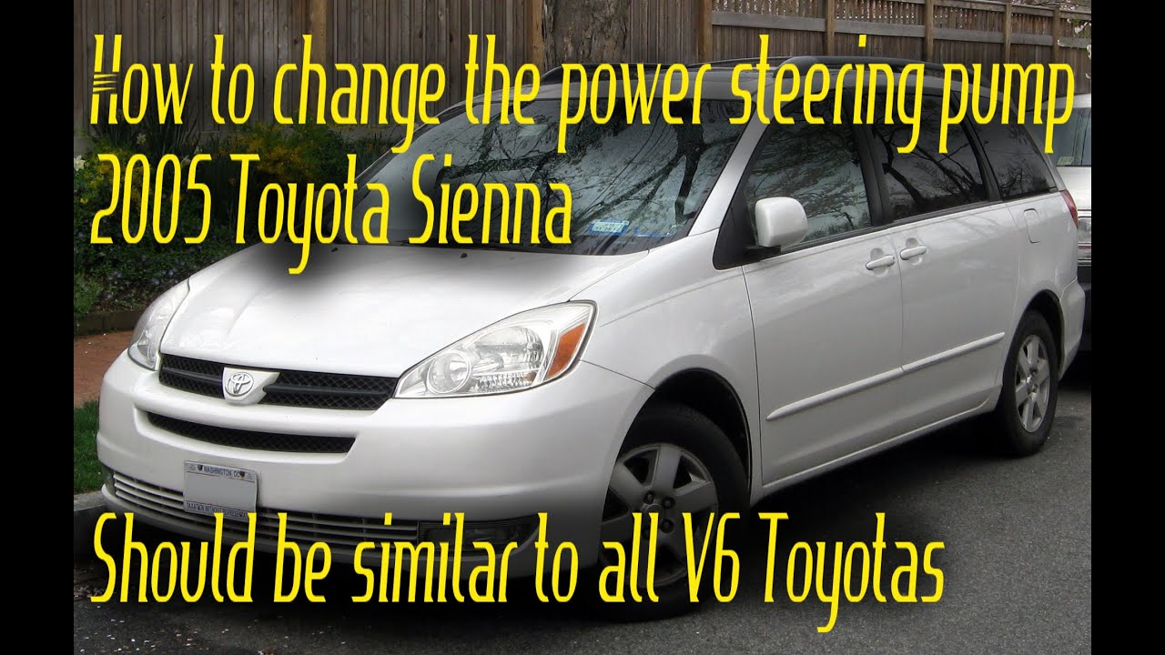 change power steering pump  toyota sienna youtube