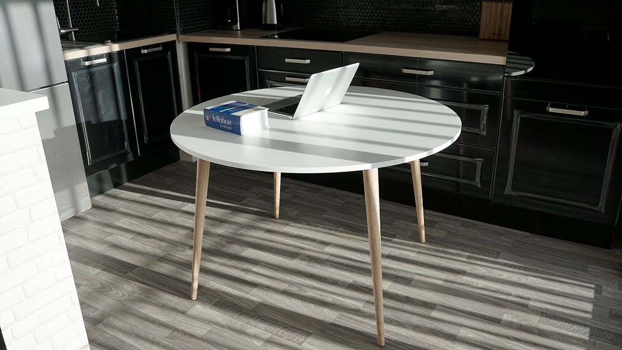 My Unboxing Déballage 82 Table De Scandinave Blanc Chêne Clair 120 Cm Conforama Soren