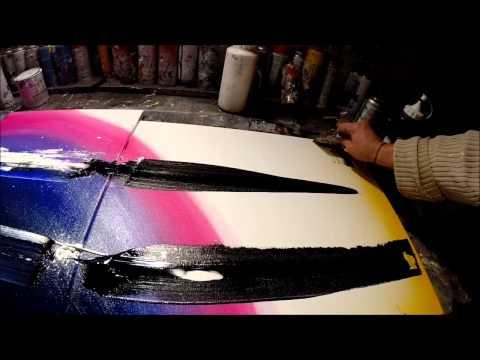 Vid o de peinture abstraite sur toile par samuel chevalier for Toile abstraite