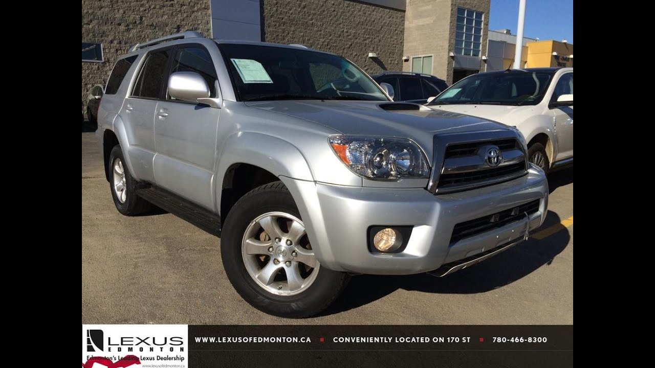 pre owned silver 2007 toyota 4runner 4wd v6 sr5 sport natl review lloydminster alberta youtube. Black Bedroom Furniture Sets. Home Design Ideas