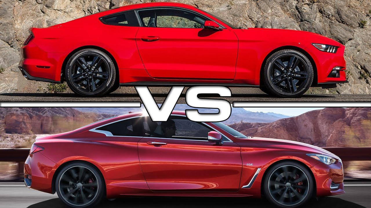 Infiniti Q60 Vs Ford Mustang Ecoboost Road Test Youtube