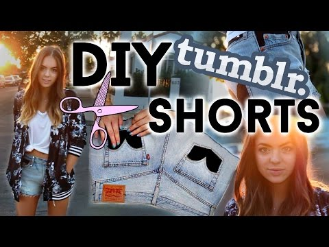 DIY Tumblr Shorts & Music Festival Outfits!!