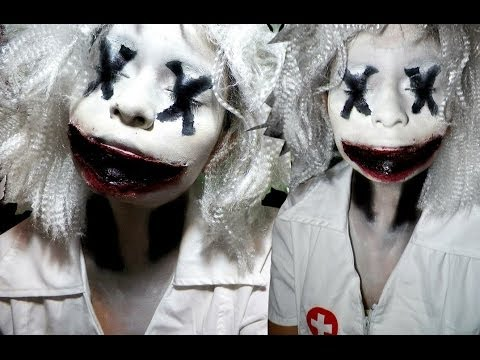 Scary Clown Halloween Makeup Tutorial - YouTube