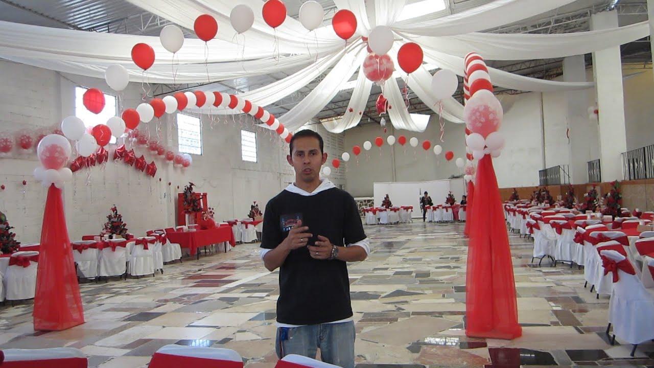 Decoracion xv yesenia decoraciones con globos youtube for Decorar casa para quince anos