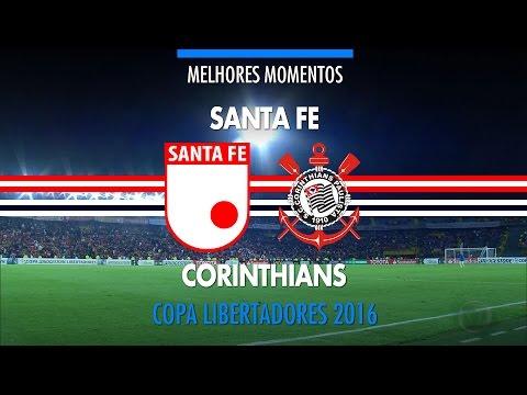 Melhores Momentos - Ind. Santa Fé-COL 1 x 1 Corinthians - Libertadores - 06/04/2016