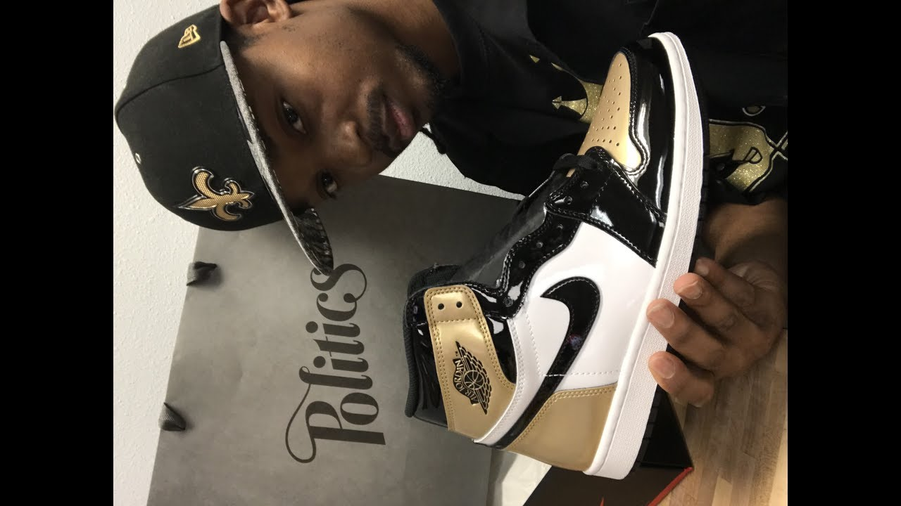17363fa1a3cfa9 Air Jordan 1 Retro High Og NRG Gold Top 3 in-depth review - YouTube