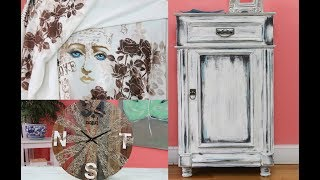 ManosalaObraTv - Programa 38 - Chalk Paint - Reloj Pallets - Sellos y Stencils sobre tela