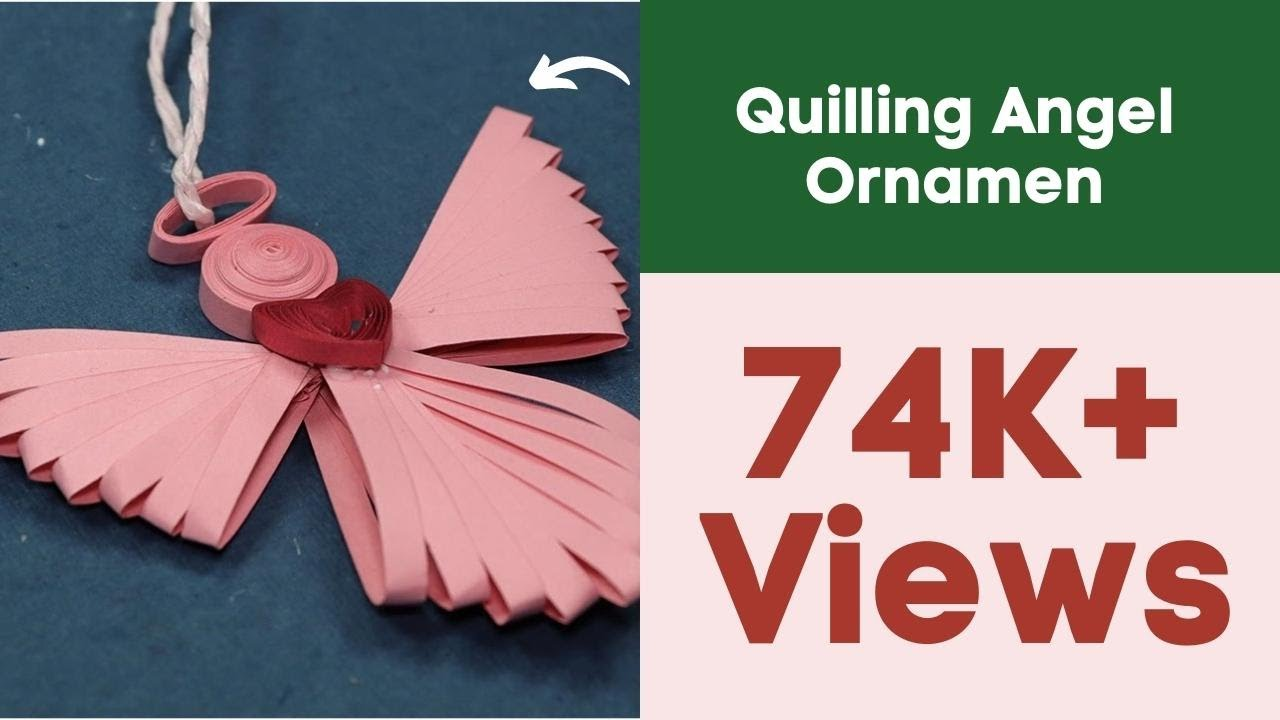 Uncategorized Paper Angel Crafts paper quilling angel ornament christmas crafts for homemade decorations youtube