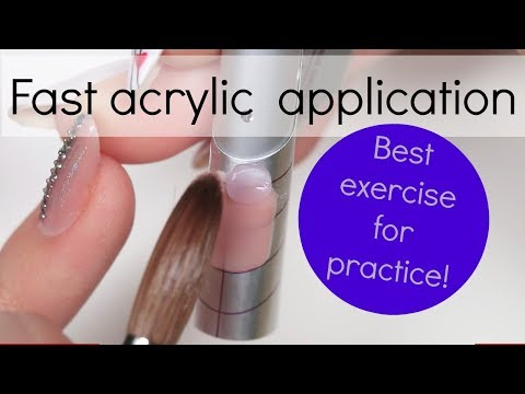 How to : Fast acrylic application | Nail tutorial | Need for speed webinar