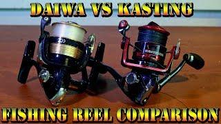 KastKing проти Дайва - рибальські порівнянні барабані KastKing косатки 2000 і Daiwa Sweepfire 2500-2В