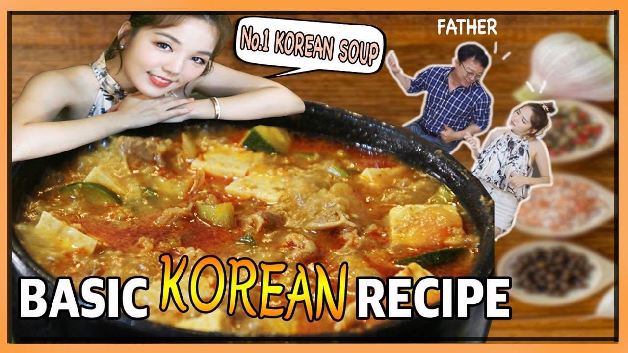 KOREAN TEACHES THE EASIEST WAY OF COOKING KOREAN SOY BEAN PASTE STEW (Doenjang-jjigae: 된장찌개)