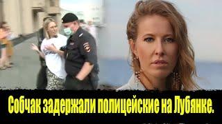 Собчак скрутили и задержали полицейские на Лубянке. Пикеты на Лубянке в поддержку Сафронова!