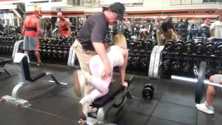Arnold Schwarzenegger Golds gym coach Eric DiLauro